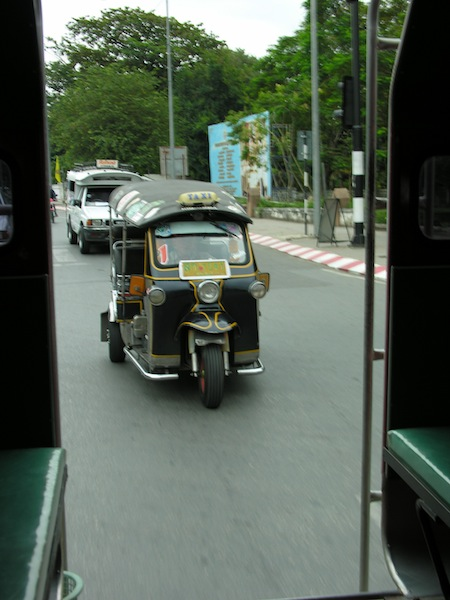 We took a Chiang Mai songthaew that day, but tuk tuks are always photogenic.