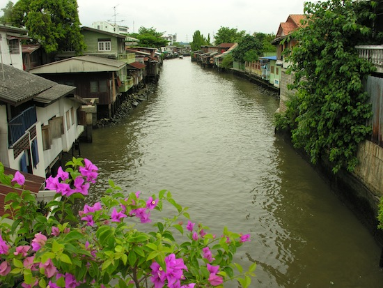 One of Thonburi's many watery roads.
