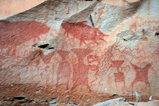 3,000 year old cliff paintings