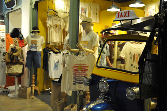 Overpriced t-shirts and over-shiny tuk tuks.