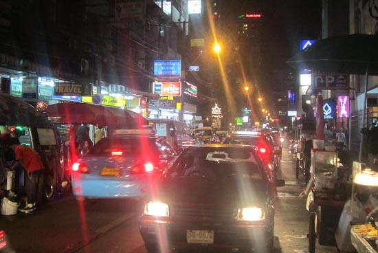 A quiet night on Sukhumvit Soi 11.