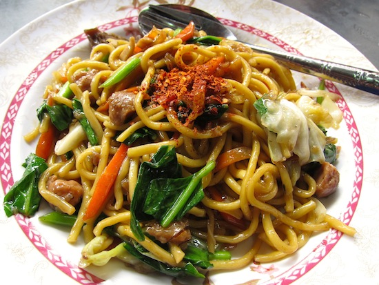 Vegan noodles from a Chinatown vendor who typically sells meat.