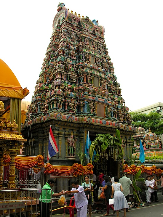 Outside Sri Maha Mariamman temple.