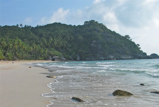 Just another strip of sand on Ko Pha Ngan.