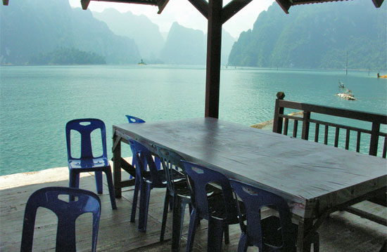 Khao Sok: Sit here and think about the office back home :)