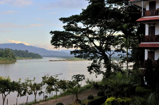View of the Mekong from the Namkhong restaurant