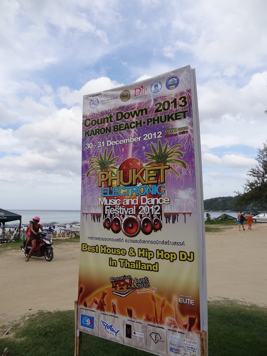 Karon Beach: set for two nights of DJ parties.