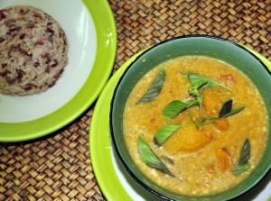 A popular selection is the tasty pumpkin, ginger and peanut curry