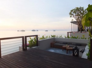 The view from the exclusive Conrad Samui, if you can afford it.