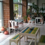 The community center area, inside Phangan Chai hotel