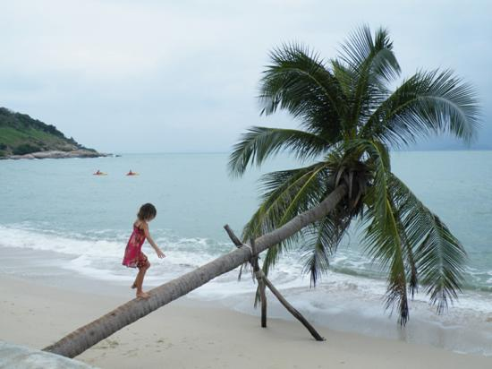 Island girl. Thongson Bay near Choeng Mon Beach is quiet and private.