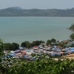 Phuket&#039;s largest sea gypsy village, as seen from Wat Siray hill.