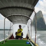 Tuk-tuk of the sea: the long-tail boat.