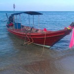 Boat on bottle beach