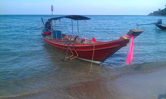 Boat on bottle beach