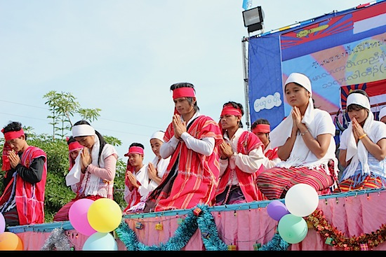 Young Karen take part in cultural activities near Sangkhlaburi, Thailand.