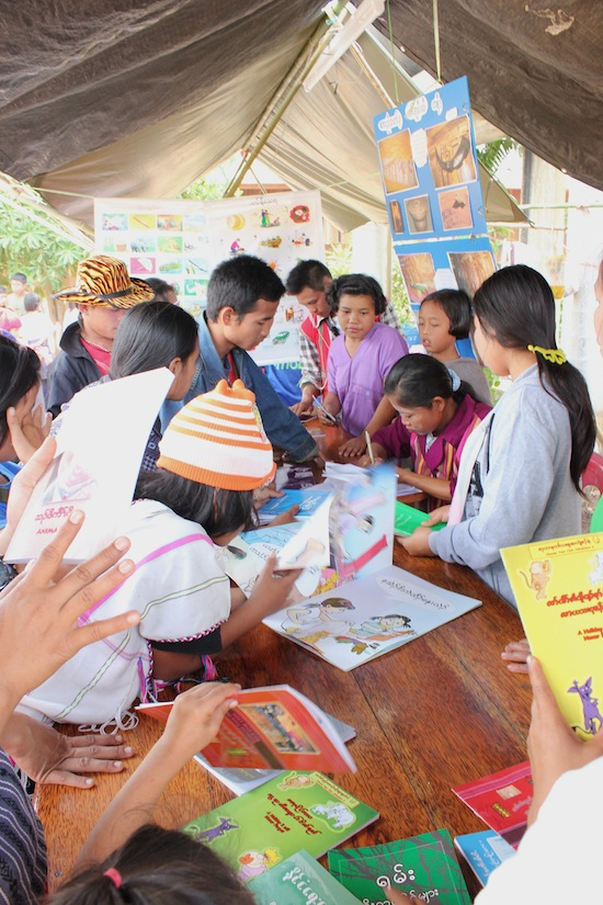 There's no shortage of enthusiasm for the Karen language books.