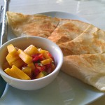 mango quesadillas from Better Than Sex restaurant