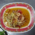 Som tam with pork neck -- a first for us.