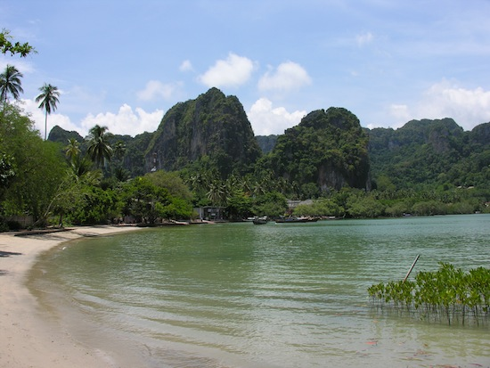 Railay East -- it looks great now but is a different story at low tide.