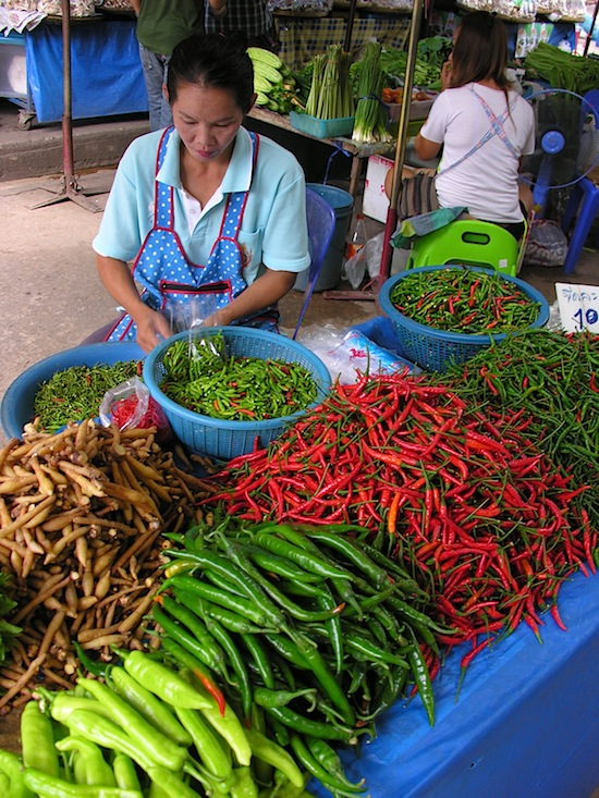 Perusing Kamphaeng Phet's bounty.