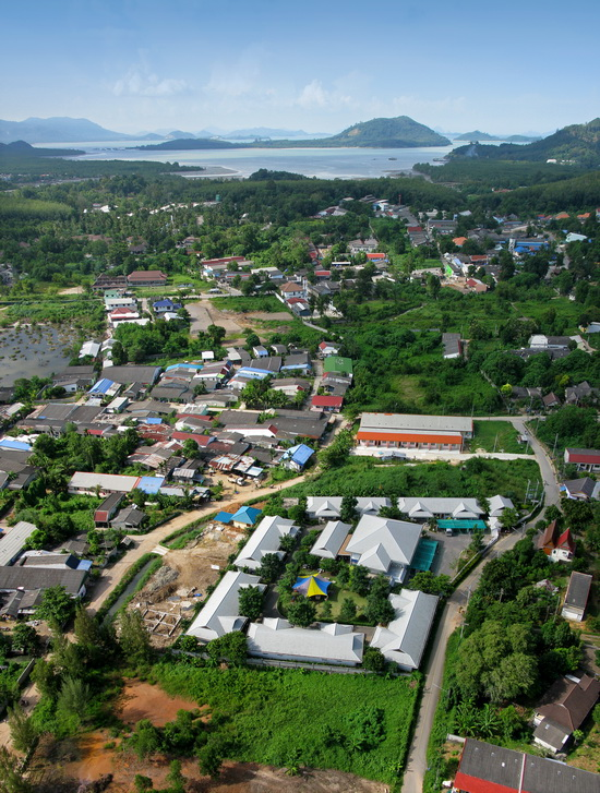 Aerial view of Phuket Sunshine Village, located on Ko Siray.