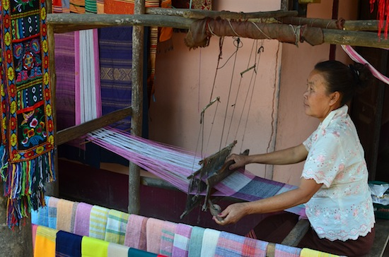 The silk weaving makes for better photos.
