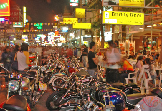 Khao San Road: Where every night is a shutdown.