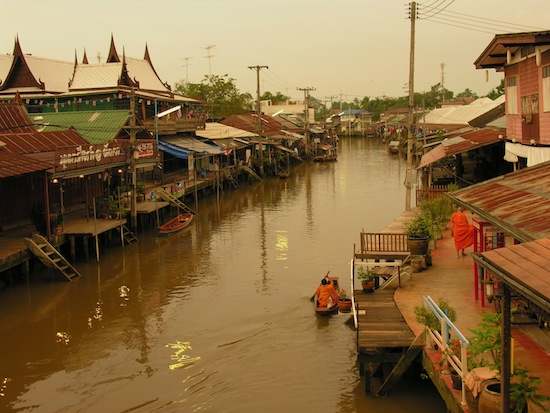Early morning in Amphawa.