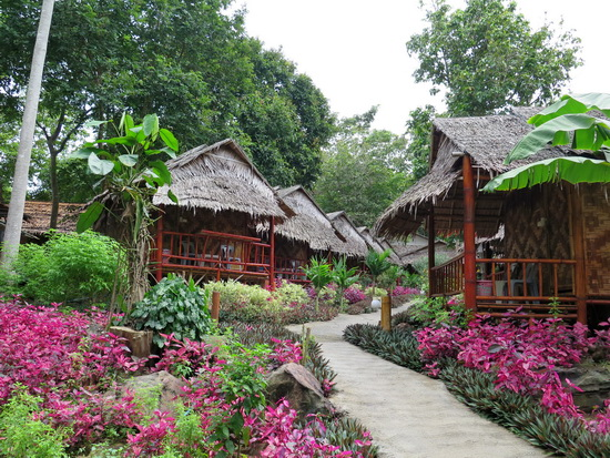Your own little jungle hut. Phutawan Bamboo Resort.