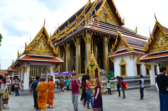 The hall where Phra Kaew is enshrined is among the temple's original buildings.