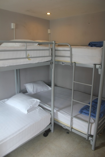 The four-bed rooms are a little cramped.