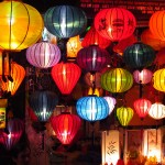 The brand new night market, the cheapest place in town to buy a silk lantern.
