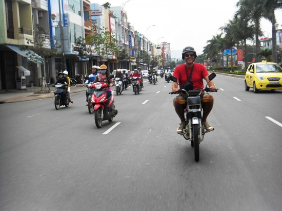 In Vietnam you drive on the RIGHT.