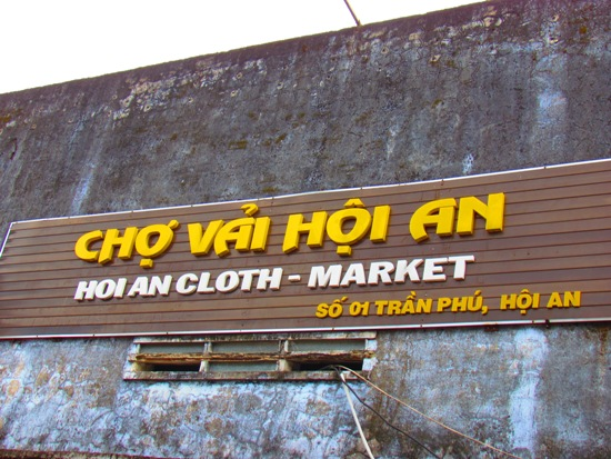 Hoi An Cloth market.. The hardest sell in town.