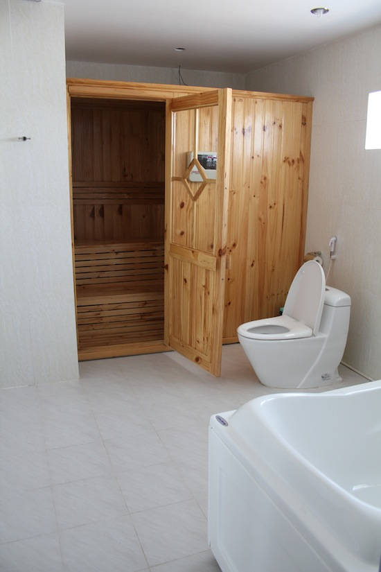 A sauna in the bathroom?