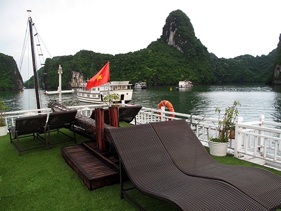 As close to grass as you'll get in Ha Long.