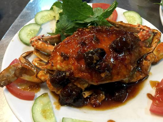 Crab with tamarind. Yum!