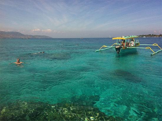 Snorkelling trip off Gili Meno.